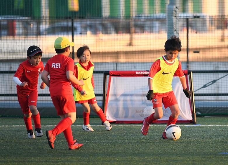 葛西―サッカースクール練習風景