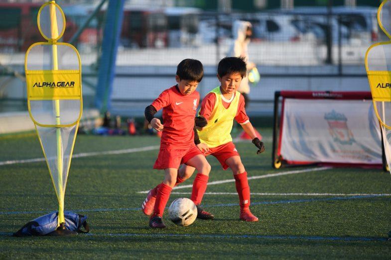 豊洲―サッカースクール練習風景